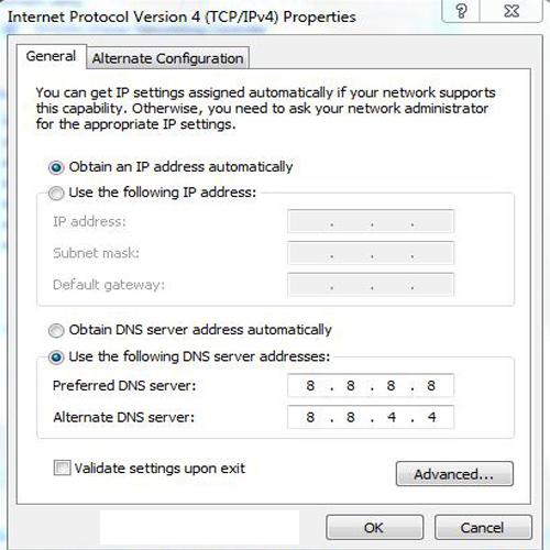 Tăng tốc bằng địa chỉ DNS