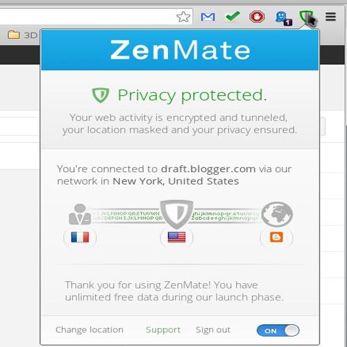 Dùng ZenMate để kết nối VPN