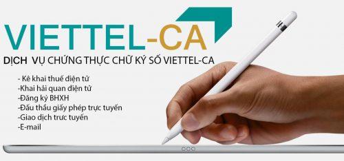 Ứng dụng củachữ ký số Viettel CA