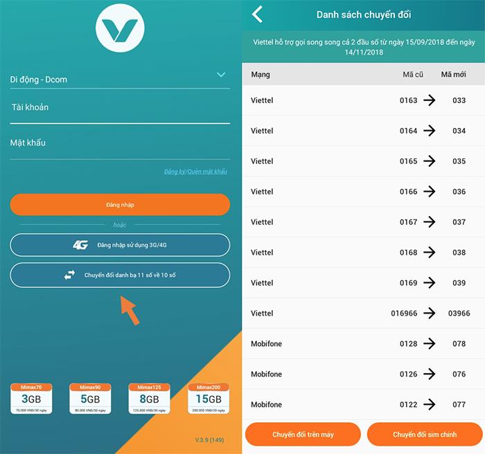 Cách đổi danh bạ bằng ứng dụng My Viettel