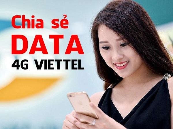 Chia sẻ data 4G Viettel cho thuê bao Viettel khác