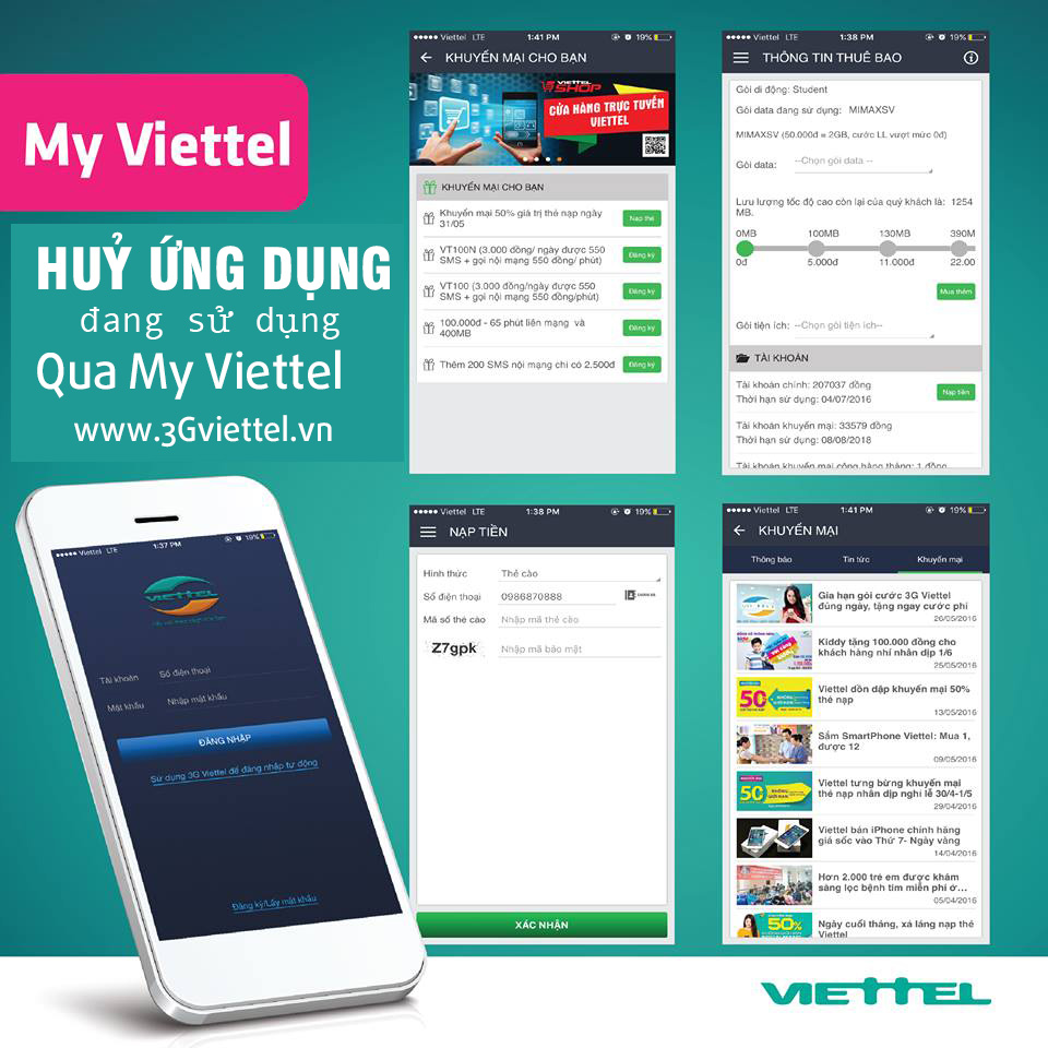 Cách hủy gói cước Viettel trên ứng dụng My Viettel