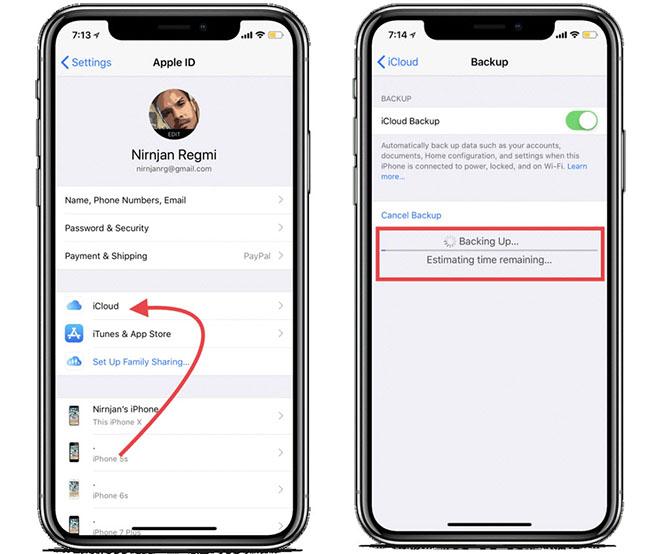 Quá trình sao lưu dữ liệu trên iPhone lên iCloud