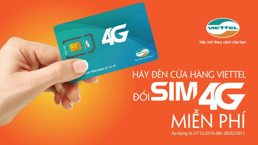 Viettel là nhà mạng đầu tiên đổi Sim Viettel 4G miễn phí