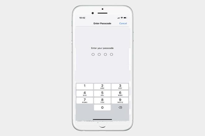 Nếu bạn chưa thiết lập mật khẩu, bạn sẽ được nhắc tạo mật mã