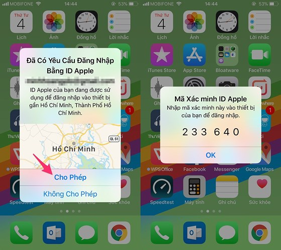 Nhập số điện thoại và lựa chọn phương thức nhận mã xác thực