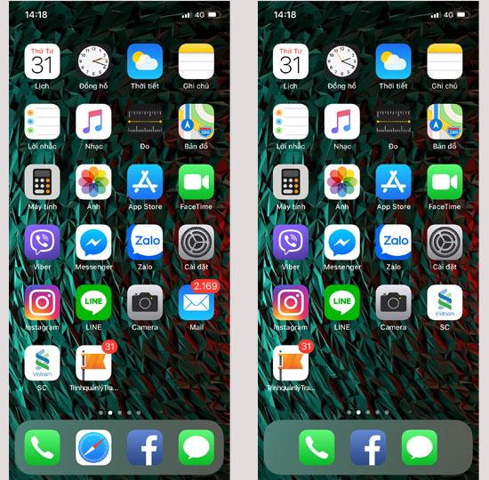 Cách ẩn ứng dụng mặc định trên iOS 12