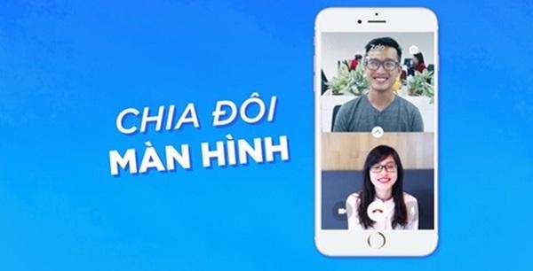 Chia đôi màn hình gọi video call trong ứng dụng Zalo