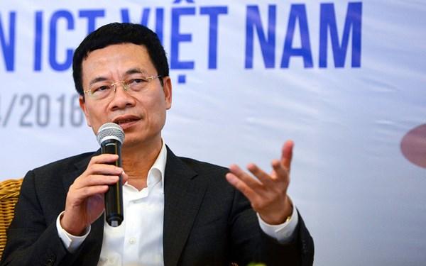 Bộ trưởng Bộ TT-TT Nguyễn Mạnh Hùng, khẳng định mạng 5G là cơ hội để Việt Nam bứt phá trong cuộc CMCN 4.0