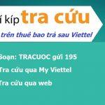 Kiểm tra cước thuê bao trả sau Viettel miễn phí