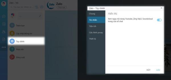 Thu nhỏ cửa sổ Zalo trên máy tính cực tiện dụng