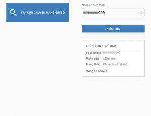 Ứng dụng nhận diện mạng thuê bao của Cục Viễn thông