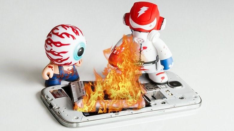Để điện thoại quá nóng