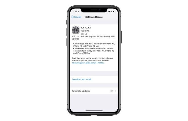 Sự cố xảy ra với iPhone chạy iOS 12.1.2