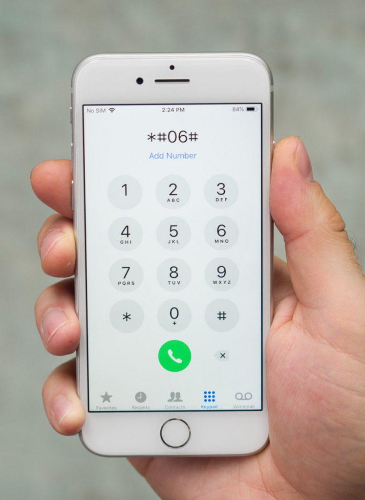 Tìm số IMEI từ bàn phím điện thoại