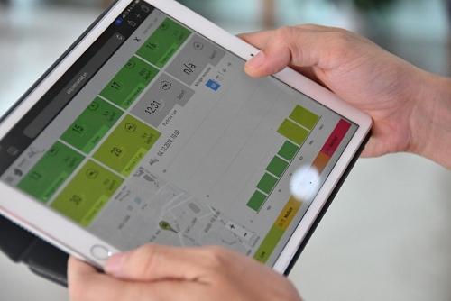 Giao diện ứng dụng giám sát chất lượng không khí nhờ công nghệ NB-IoT
