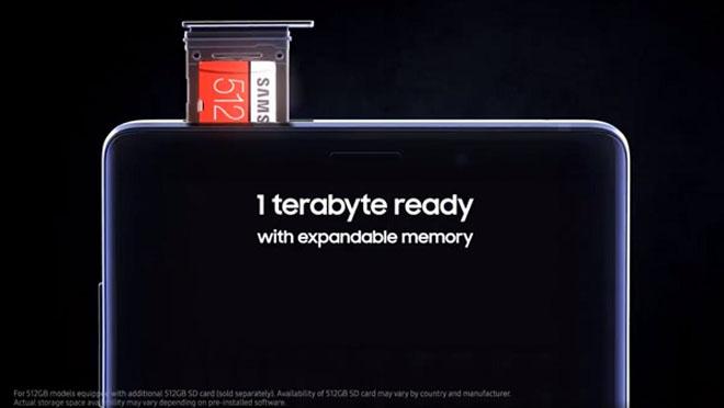 Với Note 9 bạn có thể mở rộng bộ nhớ tới 1TB