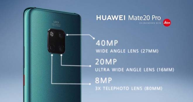 Huawei Mate 20 Pro có 1 cảm biến tới 40MP