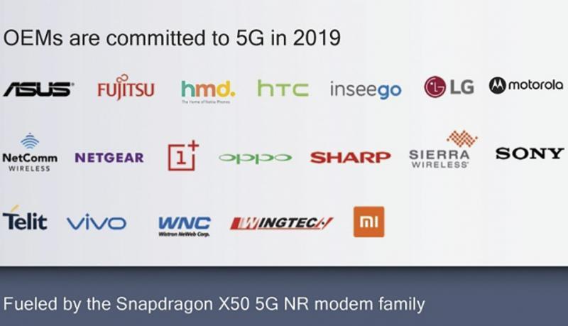 HMD, Sony, LG hay HTC trở thành đối tác của Qualcomm trong việc sử dụng mạng 5G vào năm 2019